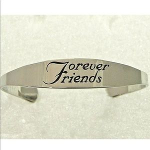 Jewelry - Forever Friends Cuff Bangle Stainless Steel